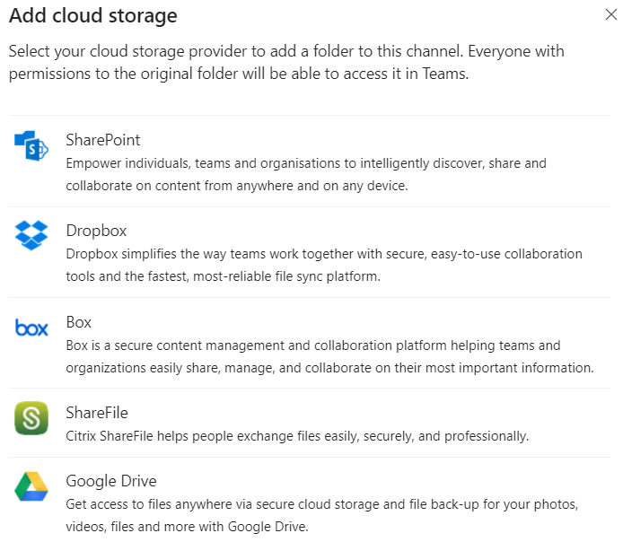 Add Cloud Storage